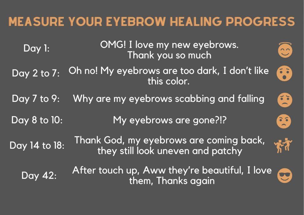 Measure your eyebrow healing progress